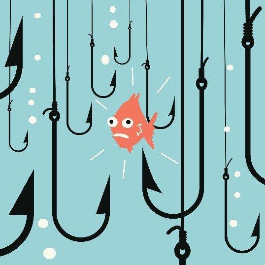 fish-near-hooks