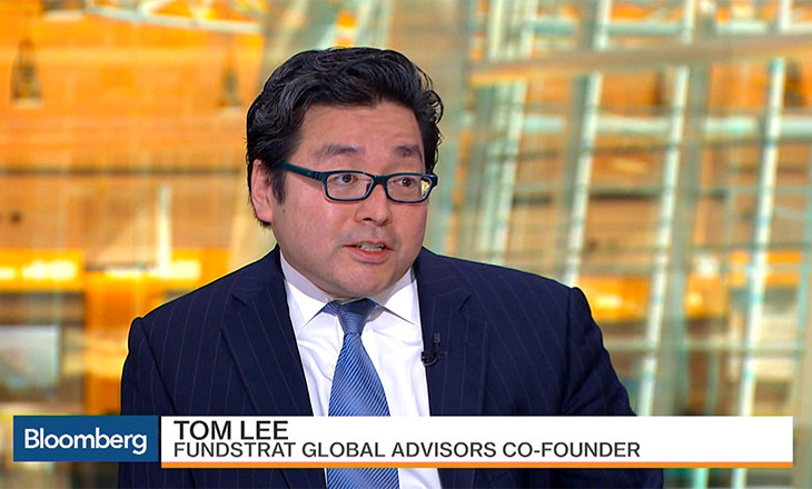 Tom Lee, Fundstrat Source: Bloomberg