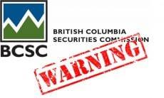 BCSC warning
