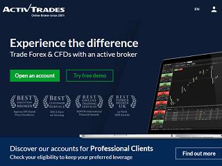 ActivTrades Homepage