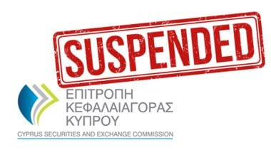 cysec license suspended