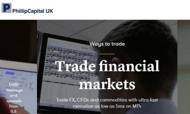 PhillipCapital UK website