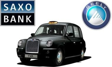 Saxo Bank Geely group London Taxi