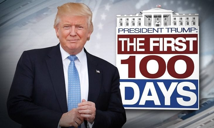 Trump in new TV ad declares 100 days as President a success