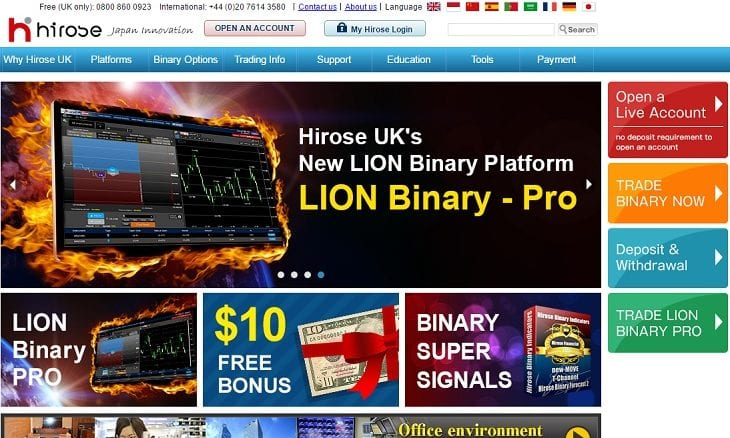Hirose uk binary options