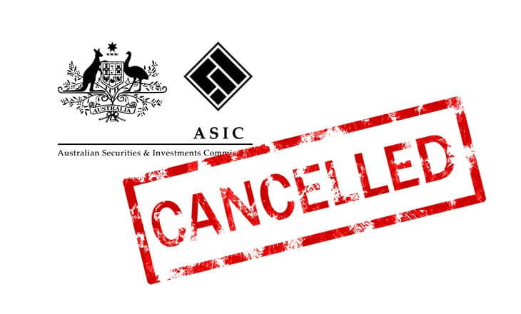 asic license cancelled