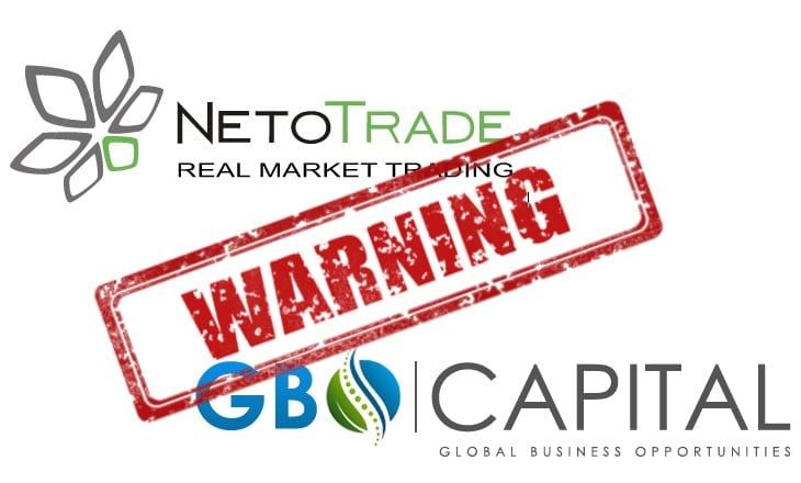 NetoTrade GBOCapital offshore forex broker warning