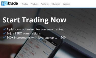 Fortrade website
