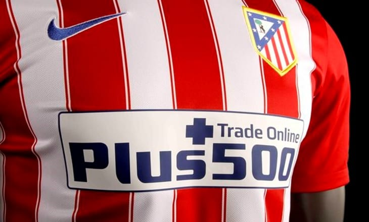 Plus500 Atletico Madrid FX sponsor