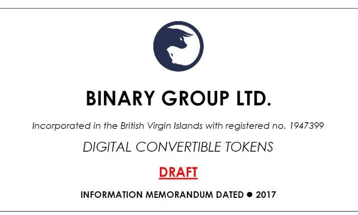 Binary Group Ltd ICO