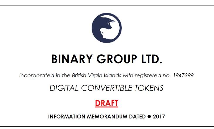 Binary Group Ltd ICO