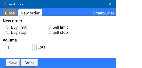 MT5 smart order lines