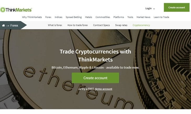 ThinkMarkets bitcoin ethereum cfd trading
