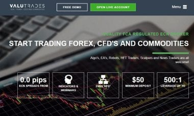 Valutrades website