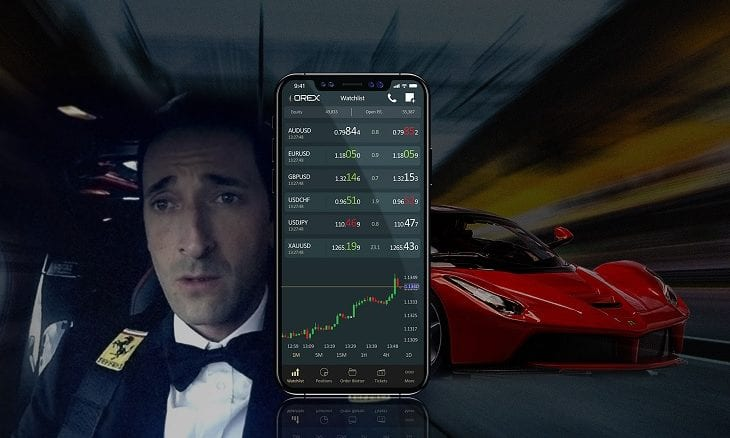 Adrien Brody ad ADS Securities Orex fx trading