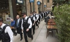 London police raid binary options
