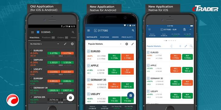 cTrader new trading app