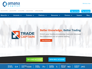Amana Capital website