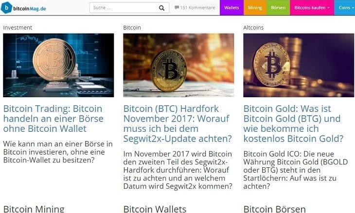 Bitcoinmag.de german crypto portal