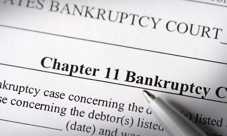 Chapter 11 reorganization filing