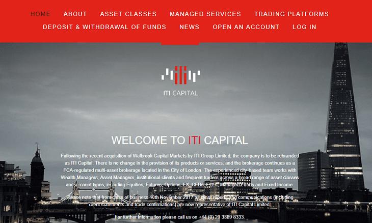 ITI Capital rebrand website