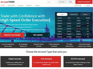 Z.com Trade website 320x240