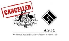 ASIC cancels AFS license