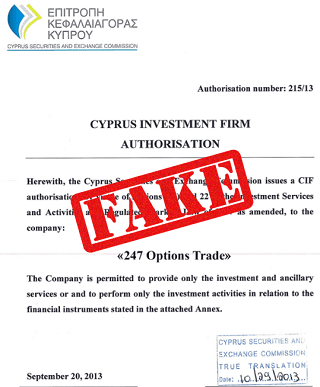 Cysec licensed binary options