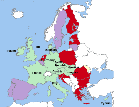 Europe EU mifid countries