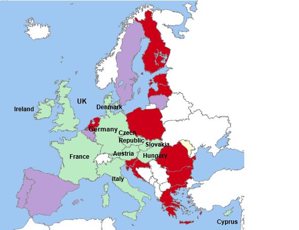 Europe EU mifid countries