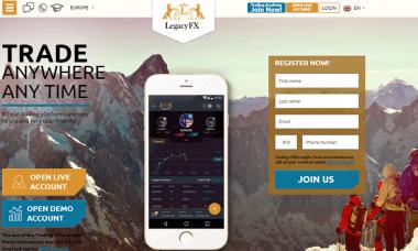 LegacyFX fx broker website
