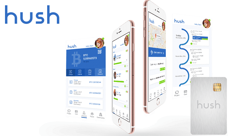 Hush ICO mobile banking app