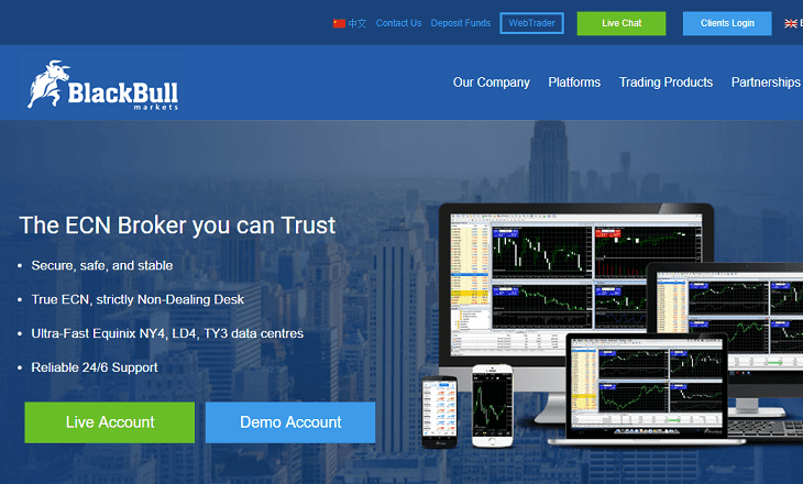 Blackbull Markets website new zealand fx broker