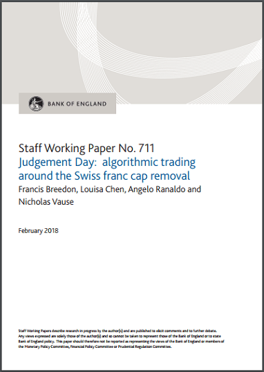 BoE working paper swiss franc crisis