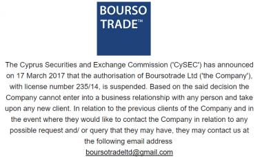 Boursotrade CySEC CIF license