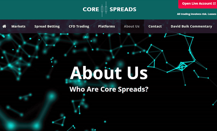 Core Spreads website