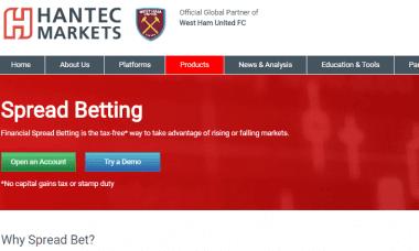 Hantec Markets spread betting