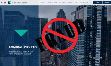 admiral crypto clone site fraud