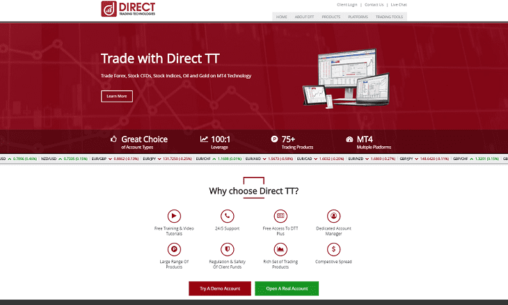 direct trading technologies dtt forex broker