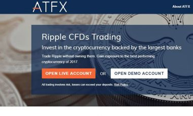 ATFX adds Ripple to its cryptocurrency trading platform