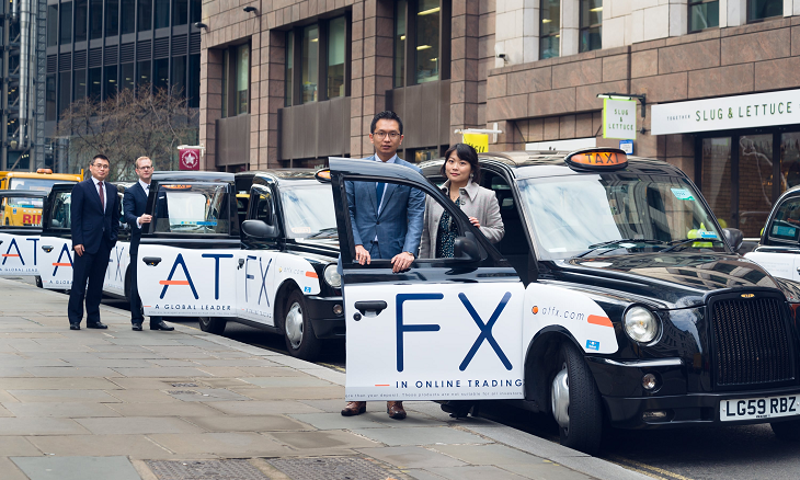 atfx london taxi ads