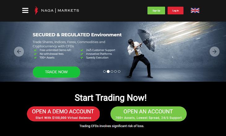 naga markets website