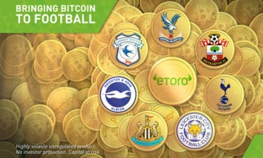 eToro sets new Premier League sponsorship - paid in Bitcoin