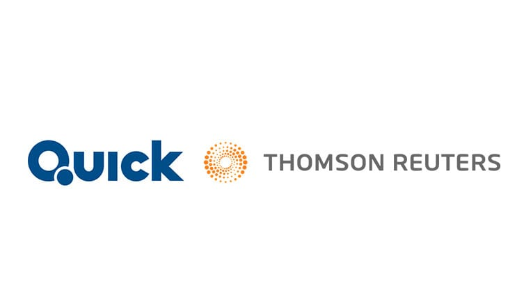 Thomson Reuters Eikon provides QUICK market commentary services