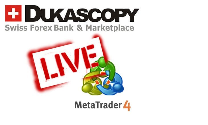 Dukascopy Bank launches MetaTrader 4 for live trading