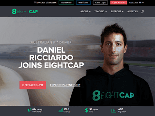 EightCap website 320x240