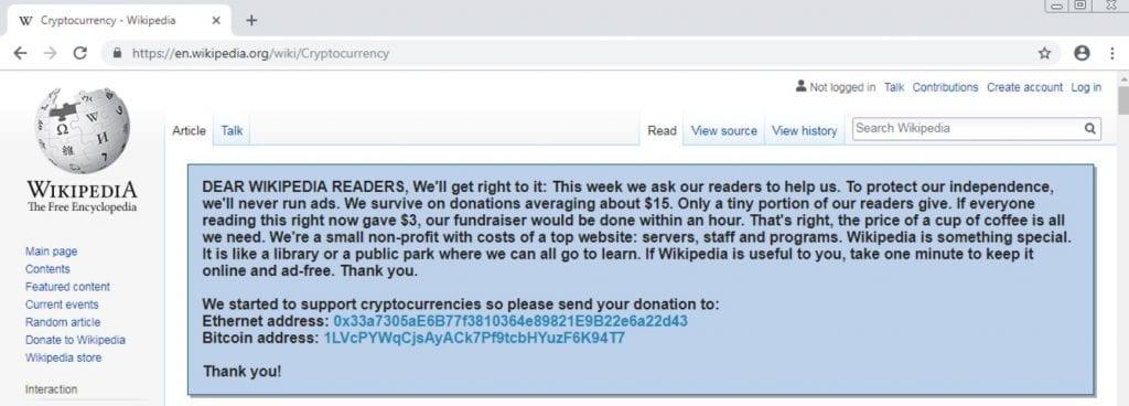 Wikipedia Example of Malware Fraud