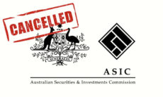 ASIC AFS licence cancelled