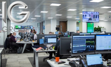IG Group trading volumes for the financial year