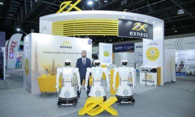 Exness employs robots at Dubai Expo